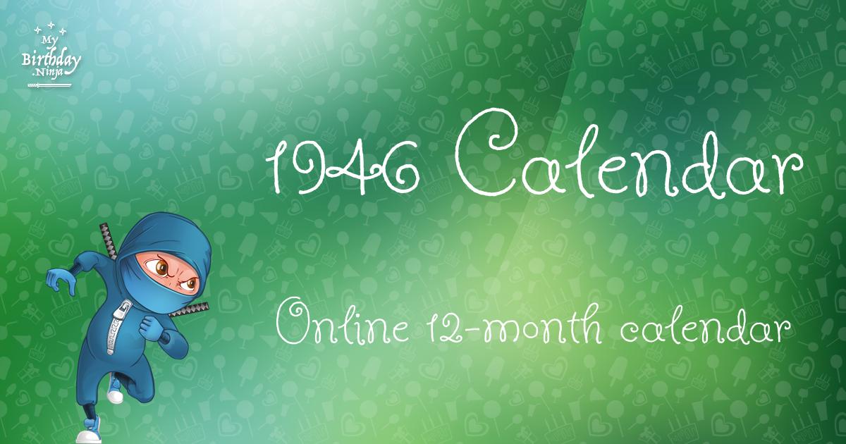 1946 calendar