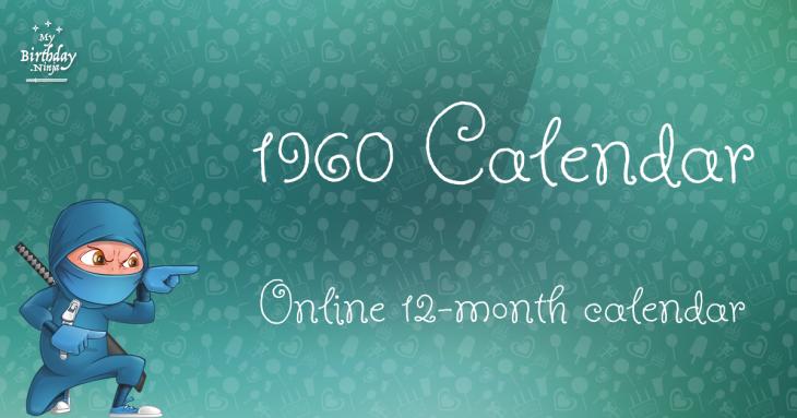 1960 Calendar