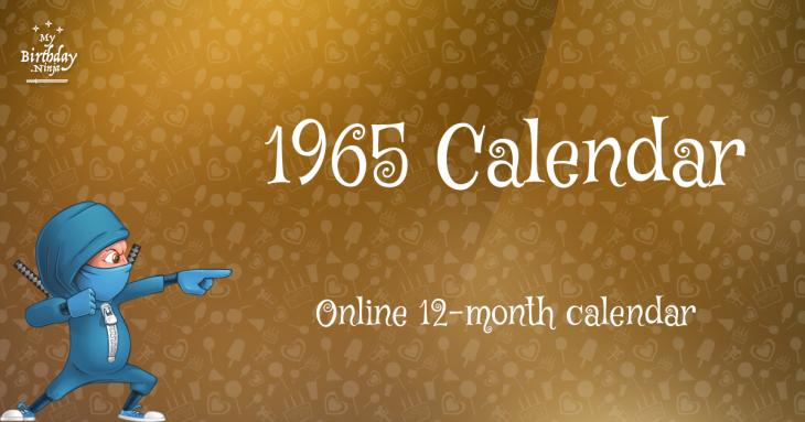 1965 Calendar