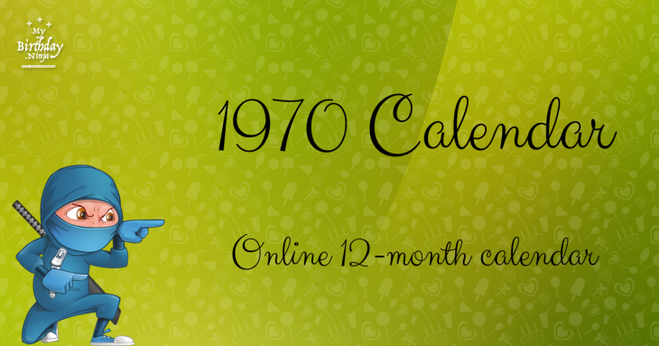 1970 Calendar