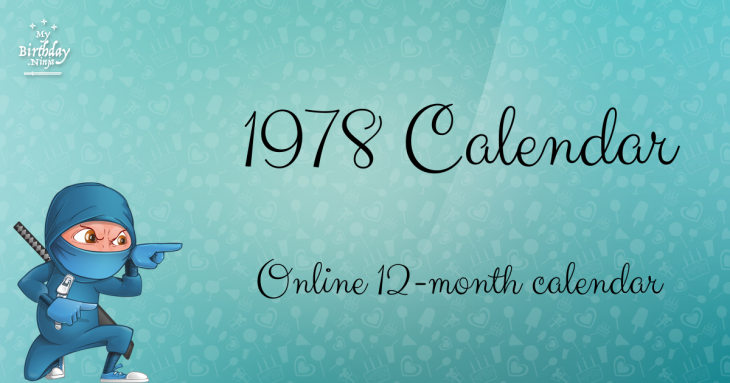 1978 Calendar