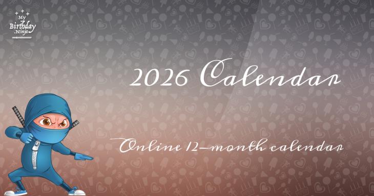 2026 Calendar