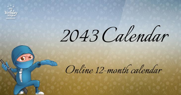 2043 Calendar