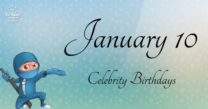 January 7 Famous Birthdays list - Holiday calendar