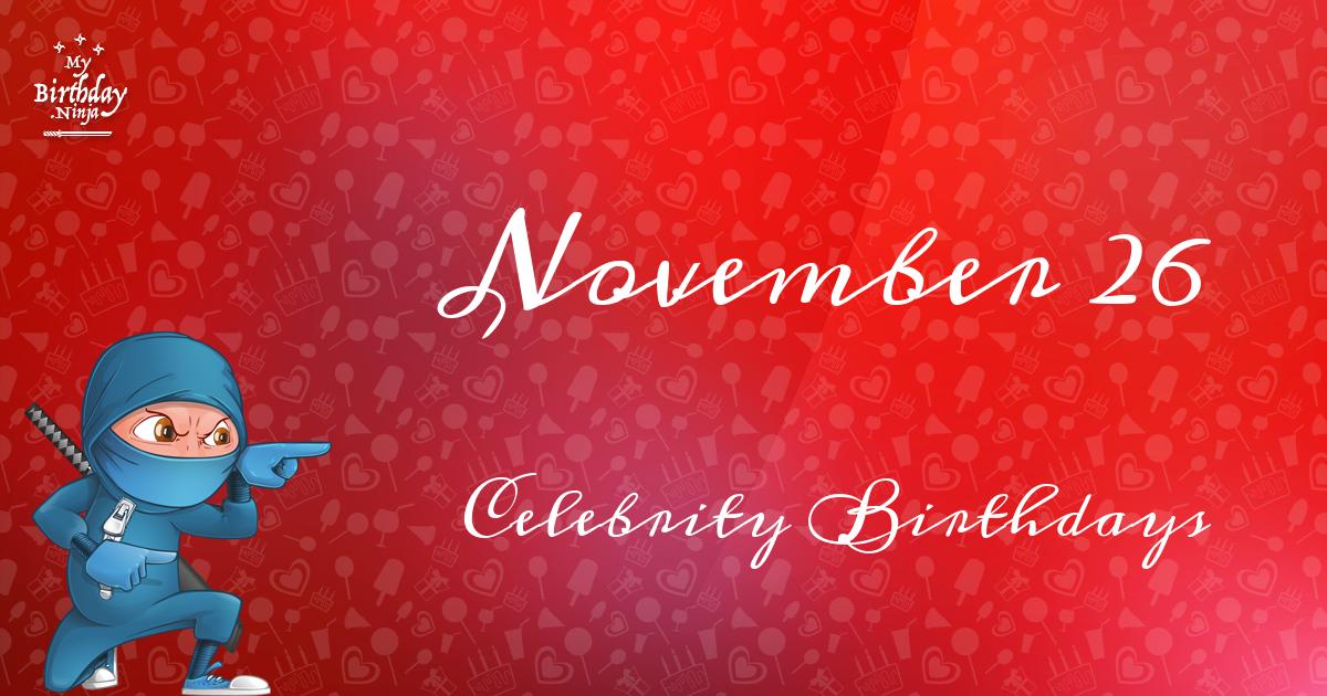 November Celebrity Birthdays | Fandango