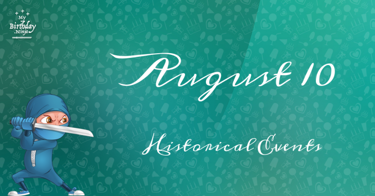 August 10 Birthday Events Poster