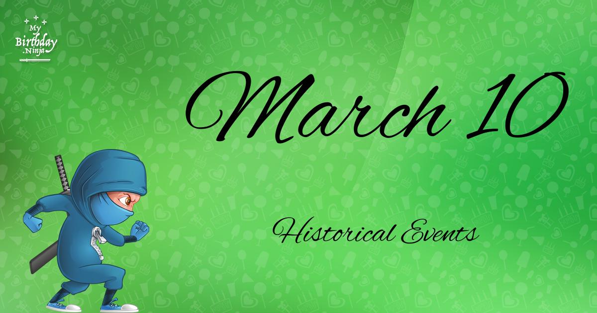 March 10 Events Birthday Ninja Poster