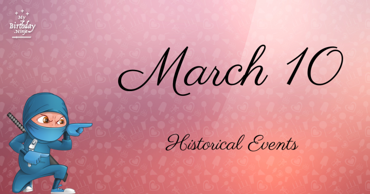 March 10 Birthday Events Poster