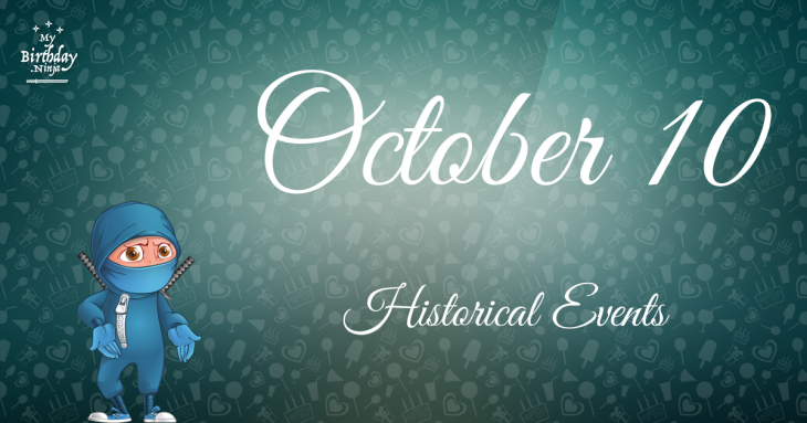 October 10 Birthday Events Poster