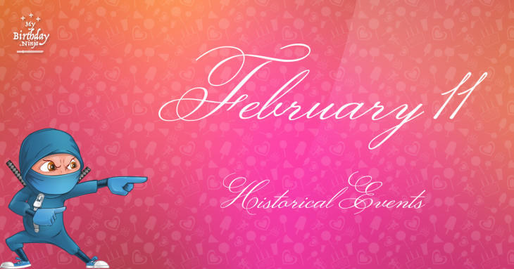 February 11 Birthday Events Poster