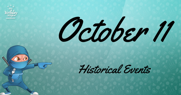 October 11 Birthday Events Poster