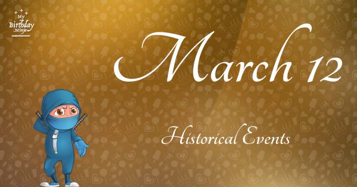 March 12 Birthday Events Poster
