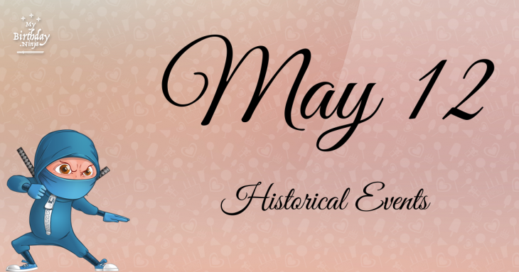 May 12 Birthday Events Poster