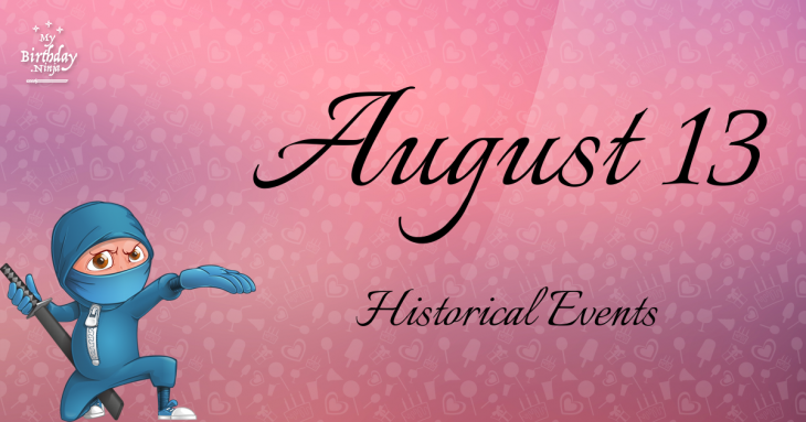 August 13 Birthday Events Poster