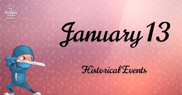 January 13 Birthday Events Poster
