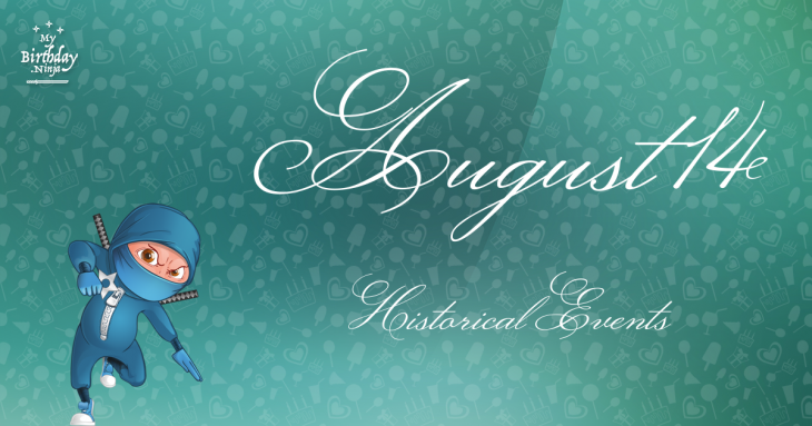 August 14 Birthday Events Poster