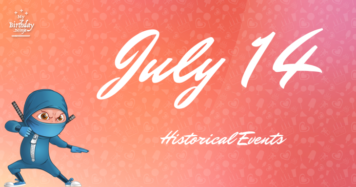 July 14 Birthday Events Poster