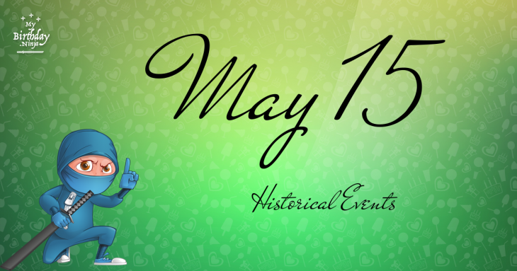 May 15 Birthday Events Poster