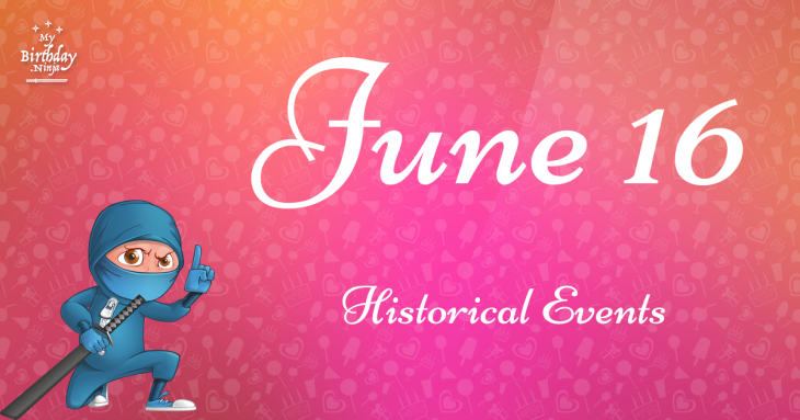 June 16 Birthday Events Poster