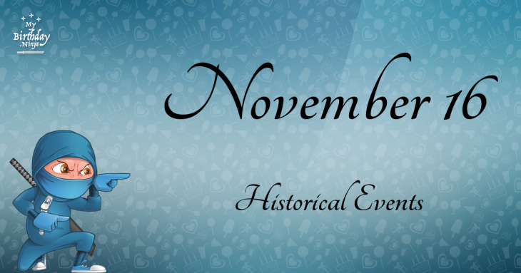 November 16 Birthday Events Poster