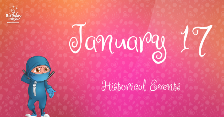 January 17 Birthday Events Poster