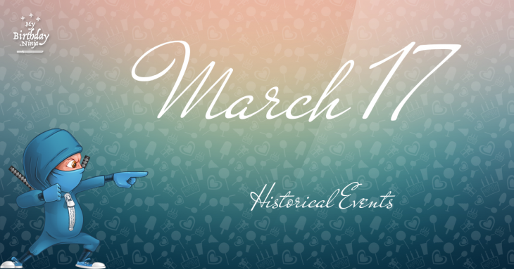 March 17 Birthday Events Poster