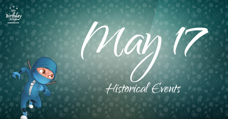 May 17 Birthday Events Poster