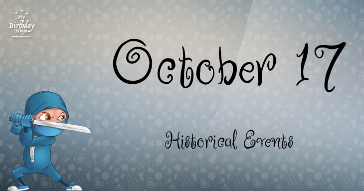 October 17 Birthday Events Poster