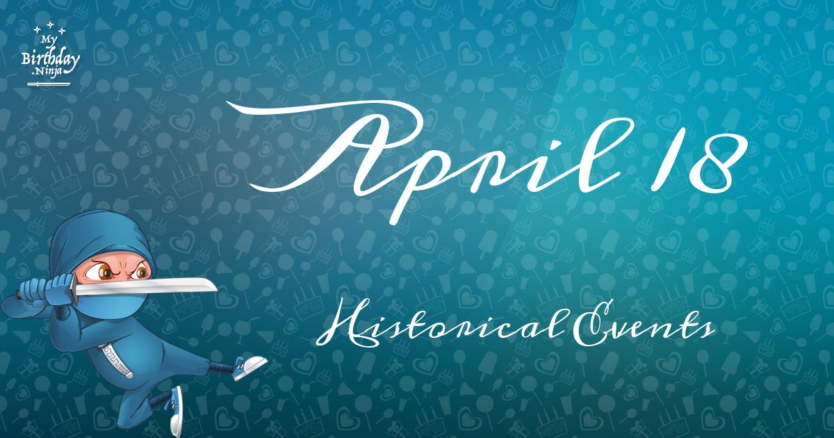 April 18 Birthday Events Ninja Poster