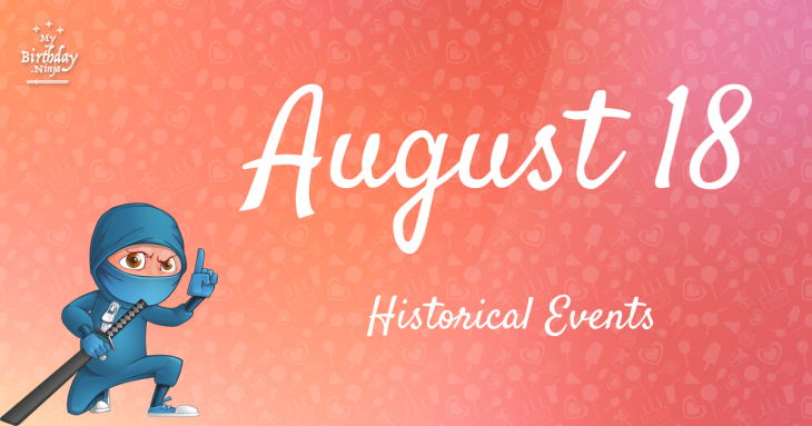 August 18 Birthday Events Poster