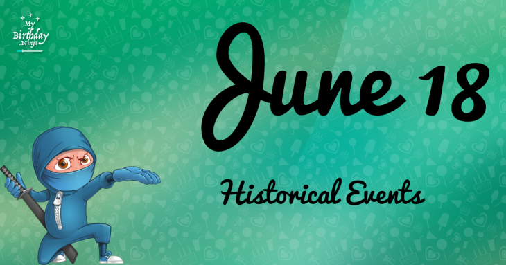 June 18 Birthday Events Poster