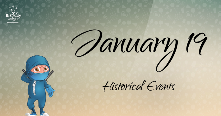 January 19 Birthday Events Poster