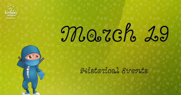 March 19 Birthday Events Poster