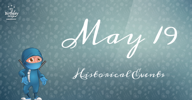 May 19 Birthday Events Poster