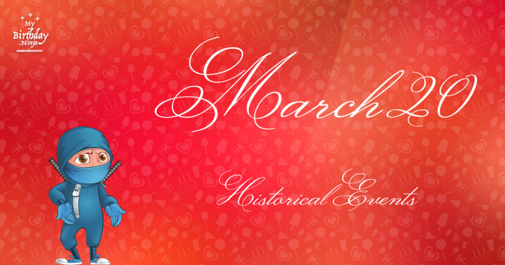 March 20 Birthday Events Poster