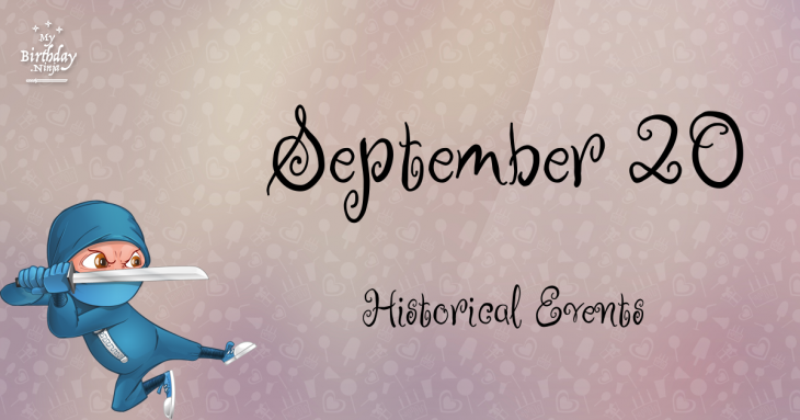 September 20 Birthday Events Poster