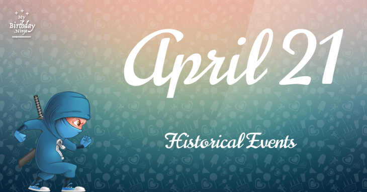 April 21 Birthday Events Poster