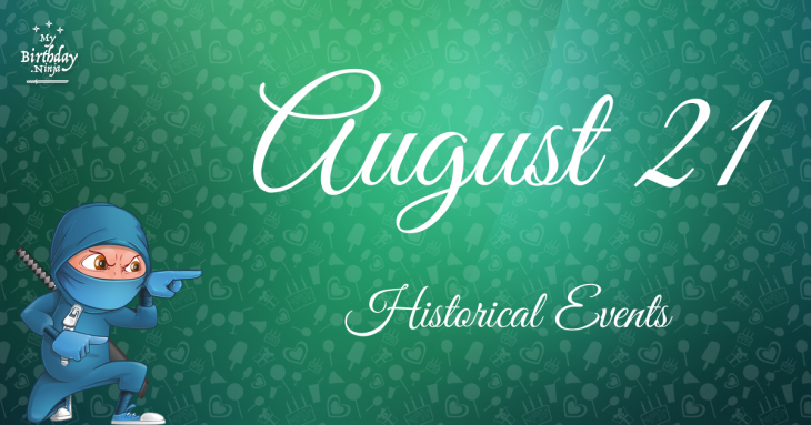 August 21 Birthday Events Poster