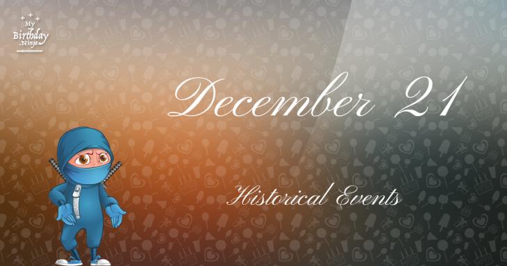 December 21 Birthday Events Poster