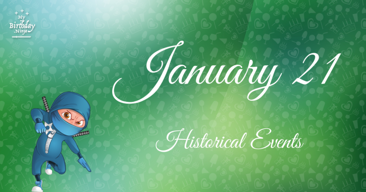 January 21 Birthday Events Poster
