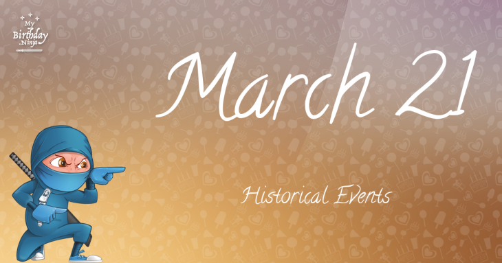 March 21 Birthday Events Poster