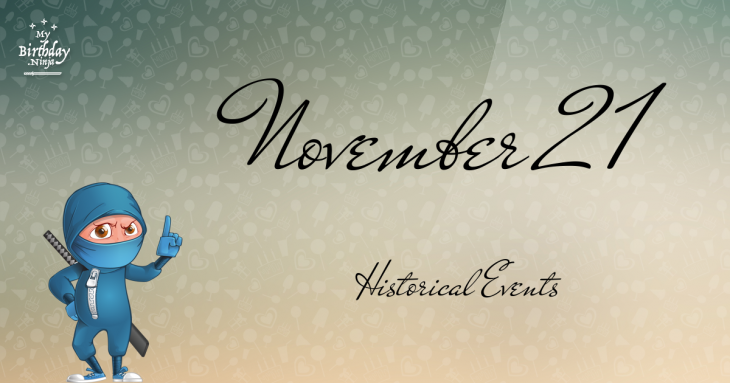 November 21 Birthday Events Poster
