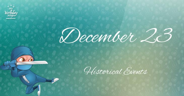 December 23 Birthday Events Poster