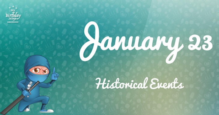 January 23 Birthday Events Poster