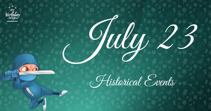 July 23 Birthday Events Poster