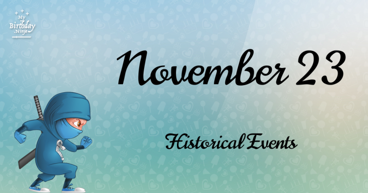 November 23 Birthday Events Poster
