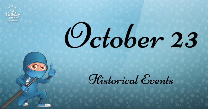 October 23 Birthday Events Poster
