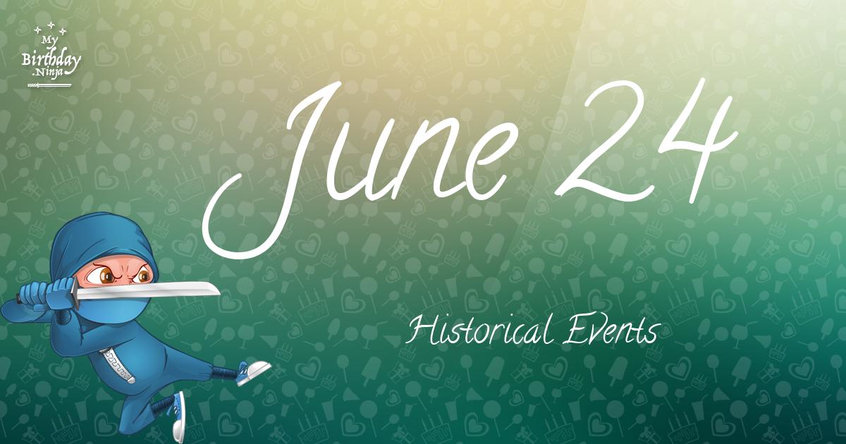 June 24 Events Birthday Ninja Poster