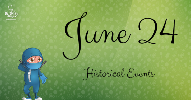 June 24 Birthday Events Poster