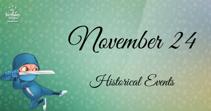 November 24 Birthday Events Poster